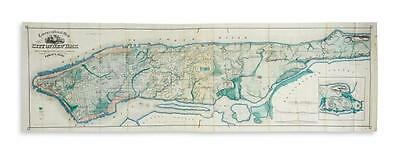 (NEW YORK CITY.) Viele, Egbert. Topographical Map of the City of New ... Lot 159