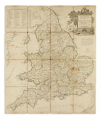 KITCHIN, THOMAS. Kitchin's Enlarged Map of the Roads of England & Wales. Lot 120