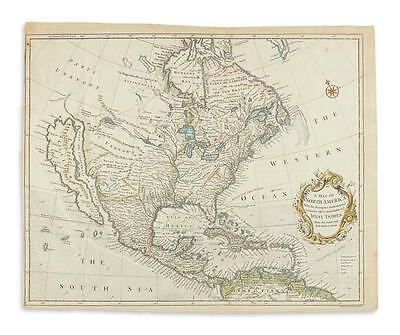 SEALE, RICHARD WILLIAM. A New Map of North America With the European ... Lot 190