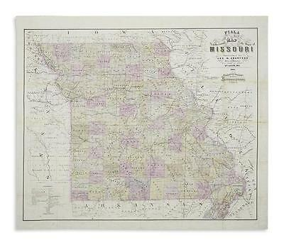 FIALA, JOHN T.; and HAREN, EDWARD. Fiala and Haren's New Sectional Map... Lot 64