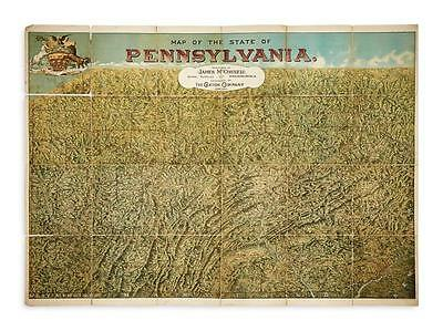 (PENNSYLVANIA.) James McConnell School Supplies. Map of the State of ... Lot 180