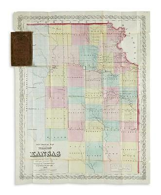 (KANSAS.) Colton, Joseph Hutchins. Sectional Map of the Territory of ... Lot 116