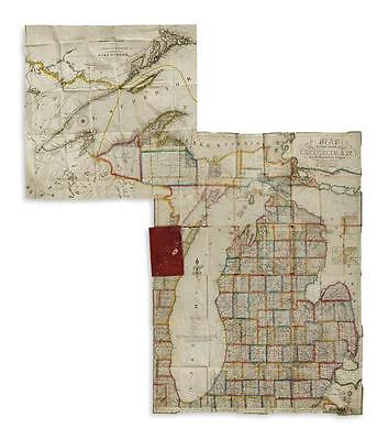 FARMER, JOHN. Map of the State of Michigan and the Surrounding Country. Lot 62