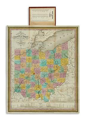 (OHIO.) Young, James H. The Tourist's Pocket Map of the State of Ohio. Lot 169