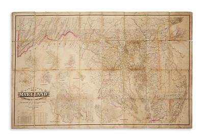 MARTENET, SIMON J. Martenet's Map of Maryland and District of Columbia, Lot 133