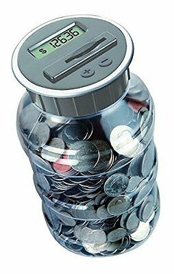 Digital Coin Bank Savings Jar by DE - Automatic Coin Counter Totals all