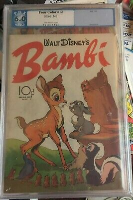 Four Color    DELL 1942 Series 2  #12  BAMBI movie Adaption PGX  6.0