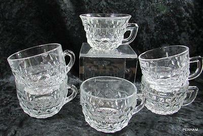 Lot#mc7: American Clear 2056 Fostoria (6) Assorted Punch Cups - 3 Styles
