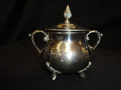 E.p.n.s. Sugar Bowl With Lid