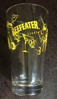 Vintage Beefeater Gin Glass Martini & Olives Advertising Glass Barware