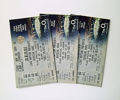RARE DEPECHE MODE MEMORABILIA - Unused Ticket Stub(s) O2 Arena London 15/12/09