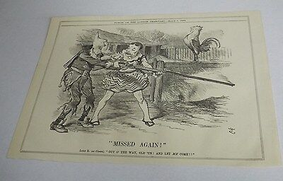 Antique Print 1884 Punch Or The London Charivari 'missed Again'