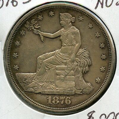 1876-S Trade Dollar, Almost Uncirculated condition,  1$ US Coin Silver  RA0099
