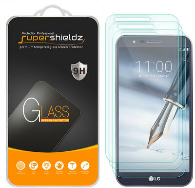 3X Supershieldz for LG Stylo 3 Plus Tempered Glass Screen Protector Saver Shield