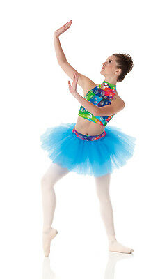 Allegria Dance Costume Ballet Tutu on Trunks and Crop Top Jazz Tap Adult X-Large