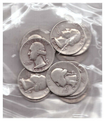 US $3.00 FACE SILVER WASHINGTON QUARTERS ALL 1940's & 1950's