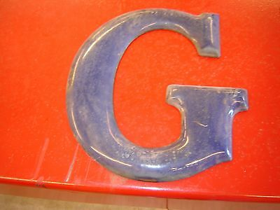 Gulf Porcelain Letters   Gas Station