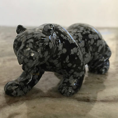 WOW!  Awesome Hand Carved Leopard in Fabulous Snowflake • 100% MINT!