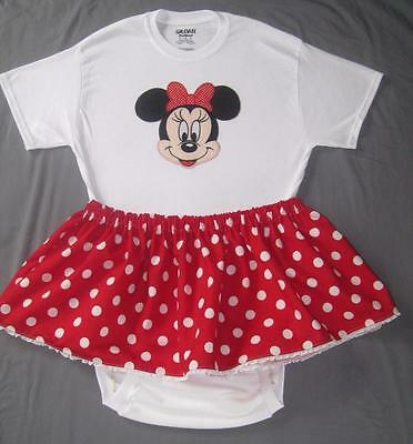 """Adult Baby 40"""" MINNIE MOUSE Onesuit / Bodysuit & Skirt, by LL"""