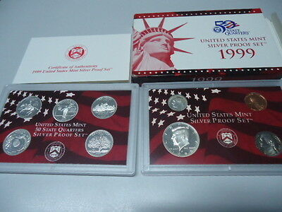 USA 1999 - KMS mit 5 Quarters in PP im Blister! Proof Set 1c - 0,50$