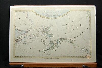 Chart of the North West Coast of America by James Cook 1784