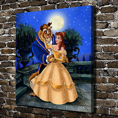 HD Print Home Wall Art Deco Oil Painting on Canvas:Beauty and the Beast/Unframed