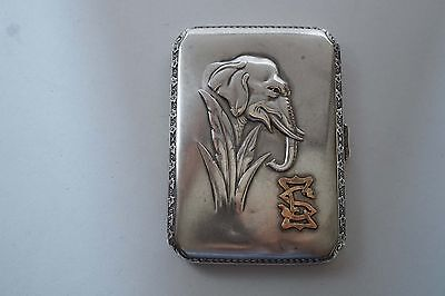 Germany 800 Silver  Cigarette Case By Karl Hohmann  146.7 Grams  A786