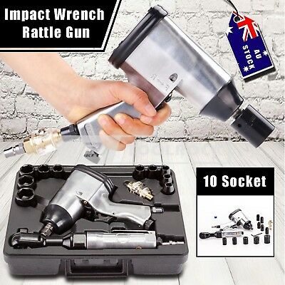 17pcs Air Impact Ratchet Wrench and Cordless Rattle Gun Tool kit with Sockets