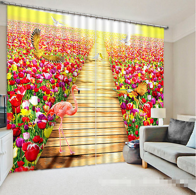 3D Tulip Sky 57 Blockout Photo Curtain Printing Curtains Drapes Fabric Window CA