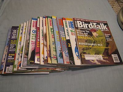 LOT OF 20 BIRD TALK MAGAZINES 1998, 1999,2000 Cockatoo MACAW Parrot CANARY Finch