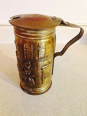 Vintage Peerage Fire Starter Smudge Pot, Brass And Copper