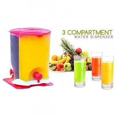 6L Drink Beverage Dispenser w/ Tap Large Fruit Infuser Lid Ice Juice Water Jug
