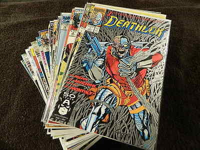 1991 MARVEL Comics DEATHLOK #1-34 + Annuals #1-2 - Awesome 32 Comic Lot!
