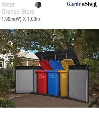 Keter Grande Store 1.91m(W) x 1.09m(D) Dbl Door + Lid - FREE HOME DELIVERY