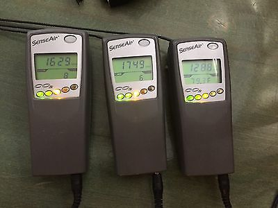SensAir SE-0024 CO2 Meter with datalogging ( 3 units plus one parts unit )