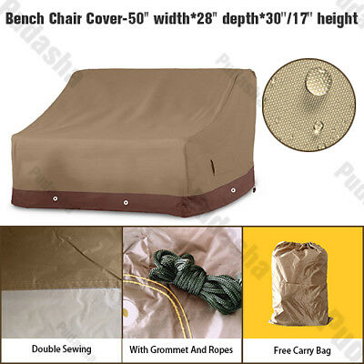 Outdoor Garden Patio Bench Loveseat Storage Cover Furniture Set Waterproof PS34P