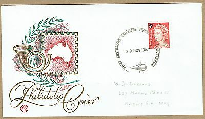 South Australia 1967 1st Satellite Launch special cancel Wesley cover