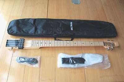 Minstar Brand Basstar 4String Travel Electric Guitar With Carring Bag