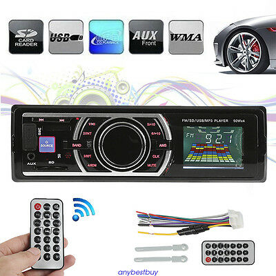 Car MP3 Stereo Audio FM Aux Input Receiver Digital USB/SD In-Dash 12V