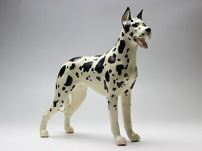Harlequin Great Dane Standing Dog Ceramic Porcelain Figurine Japan NEW