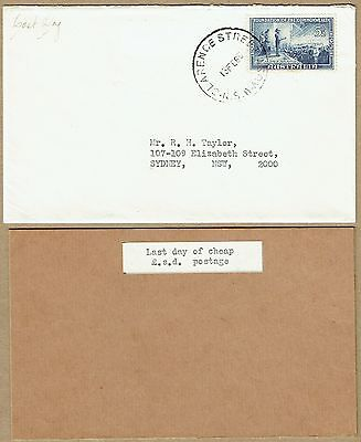 Australia 1968 Last day of validity of £SD stamps cover