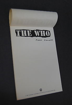 The WHO Face Dances 1981 US Promo Only NOTEPAD Townshend DATLREY Entwhistle MOD