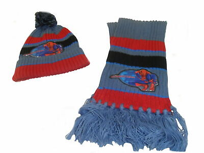 Marvel Spiderman Boys Hat and Scarf set