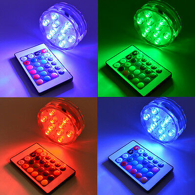 RGB LED Underwater Light IP68 Waterproof Swimming Pool Light For Party + Remote