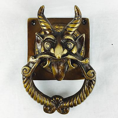 Brass Door Knocker Vintage look Brass Chinese Lion Dragon Head Door Knocker
