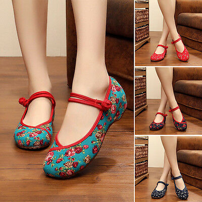 Women Ballerina Mary Jane Casual Flats Shoes Soft Sole Retro Walking Lady Shoes