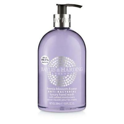 Baylis & Harding Freesia Blossom and Pear 500ml Hand Wash Anti Bacterial FREE P&