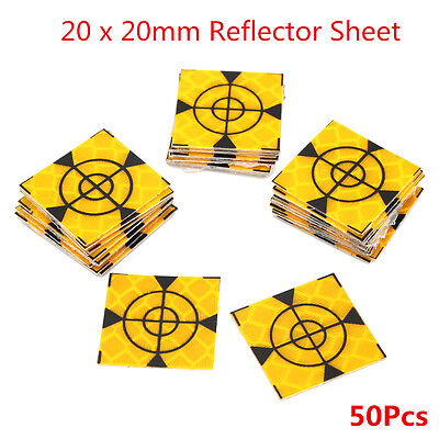50pcs Reflector Sheet 20 x 20mm Reflective Tape Target Widely Used In Enginee