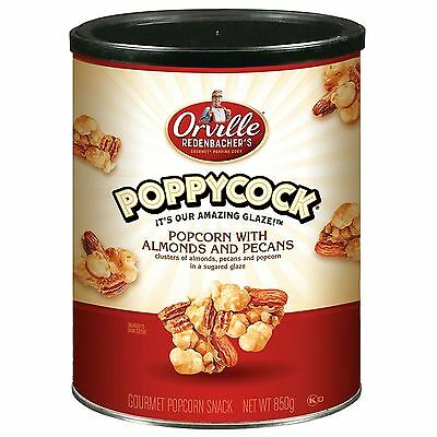 Poppycock Popcorn with Almonds & Pecans Nuts in Sugared Glaze Gourmet Snack 850g