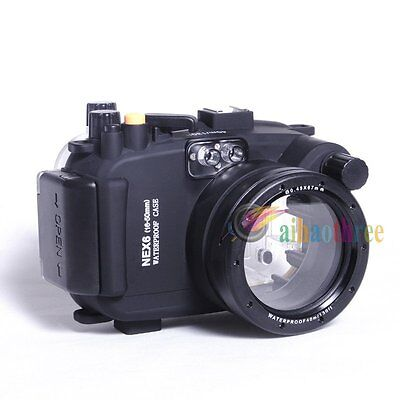 Meikon 40M 130ft Waterproof Diving Case Cover For Sony NEX6 16-50mm Camera【AU】